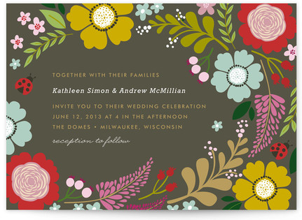 Ladybug Garden Print-It-Yourself Wedding Invitations
