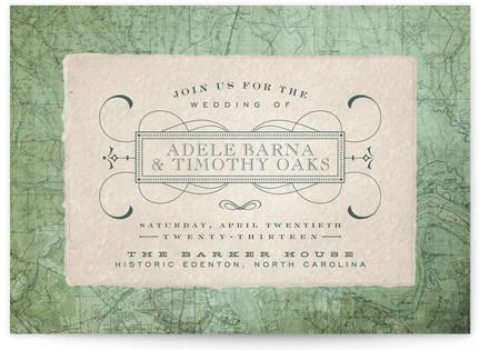 Tea and Topo Print-It-Yourself Wedding Invitations