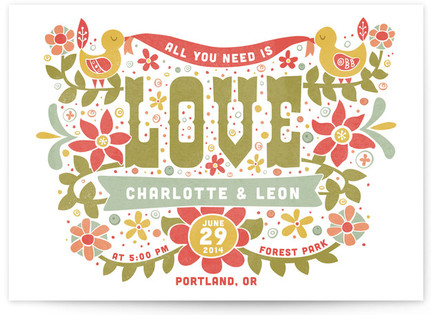 Woodstock (All You Need is Love) Print-It-Yourself Wedding Invitations