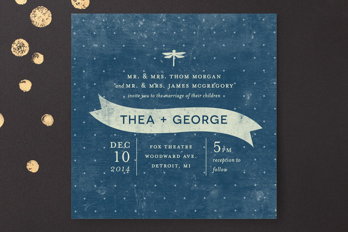 """""""Twinkle"""" - Rustic Print-it-yourself Wedding Invitations in Midnight by Snow and Ivy."""