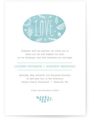 Sweet Love Print-It-Yourself Wedding Invitations