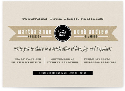 Kraft Label Print-It-Yourself Wedding Invitations