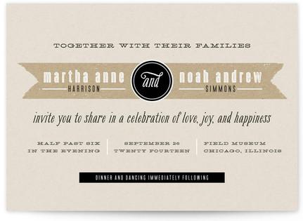 Kraft Label Print-It-Yourself Wedding Invitations