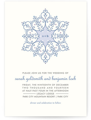Winter Wedding Print-It-Yourself Wedding Invitations