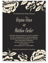 This is a black and white diy wedding invitation by Paper Dahlia called Floral Flirtation with standard printing on digital paper in digital.