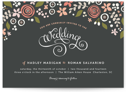 Midnight Fete Print-It-Yourself Wedding Invitations