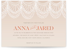 This is a beige diy wedding invitation by Laura Condouris called Mantilla Spanish Lace with standard printing on digital paper in digital.