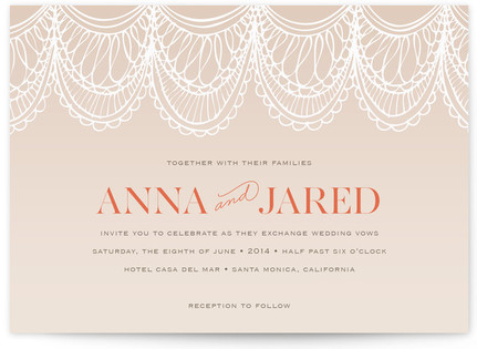 Mantilla Spanish Lace Print-It-Yourself Wedding Invitations