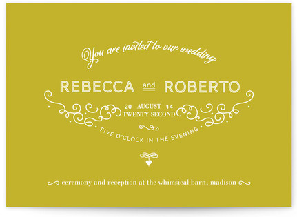 French Meringue Print-It-Yourself Wedding Invitations