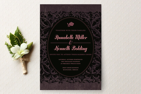 """Solstice"" - Elegant, Classical Print-it-yourself Wedding Invitations in Blush by Alex Elko Design."