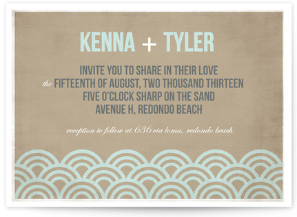 Beach Bums Print-It-Yourself Wedding Invitations