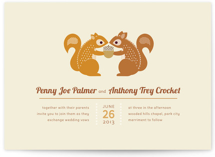 I'm Nuts for You Print-It-Yourself Wedding Invitations
