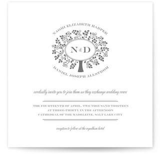 Wedding Boughs Print-It-Yourself Wedding Invitations