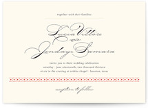 Dotted and Brush Print-It-Yourself Wedding Invitations