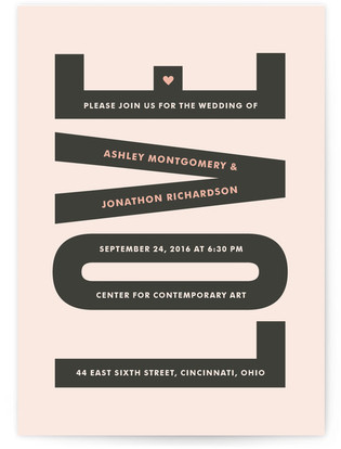 In Love Print-It-Yourself Wedding Invitations