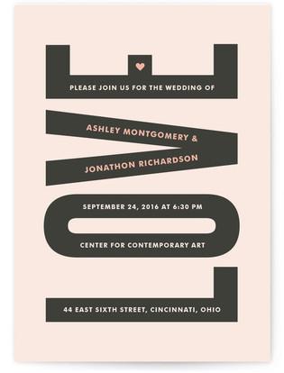In Love Print-It-Yourself Wedding Invitations