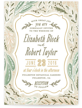 Herb Garden Print-It-Yourself Wedding Invitations