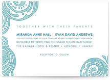 This is a blue diy wedding invitation by Guess What Design Studio called Contemporary Chic with standard printing on digital paper in digital.