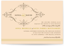 French Vintage Print-It-Yourself Wedding Invitations