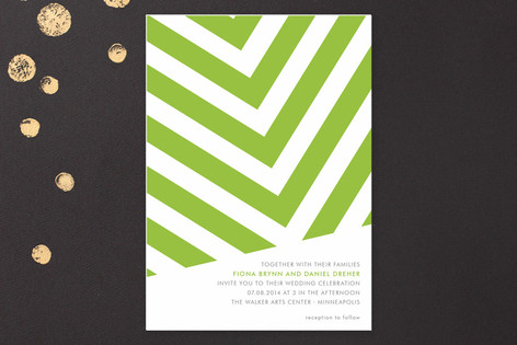 """Fracas"" - Modern Print-it-yourself Wedding Invitations in Peridot by Sarah Lenger."