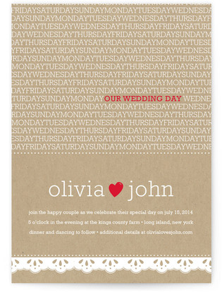 Our Wedding Day Print-It-Yourself Wedding Invitations
