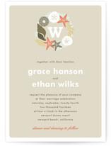 Seaside Initial Print-It-Yourself Wedding Invitations