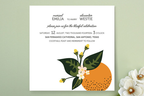 """Citrus Crush"" - Print-it-yourself Wedding Invitations in White by Emily Ranneby."