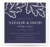 Indigo Evening Print-It-Yourself Wedding Invitations