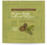 Rustic Pinecones Print-It-Yourself Wedding Invitations