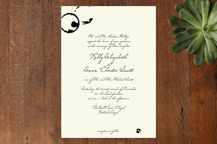 """Classic Inkwell"" - Classical Print-it-yourself Wedding Invitations in Cream by Lehan Veenker."