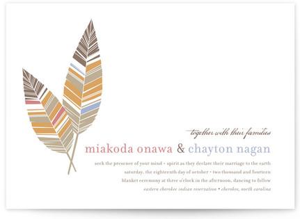 Spirit Feathers Print-It-Yourself Wedding Invitations