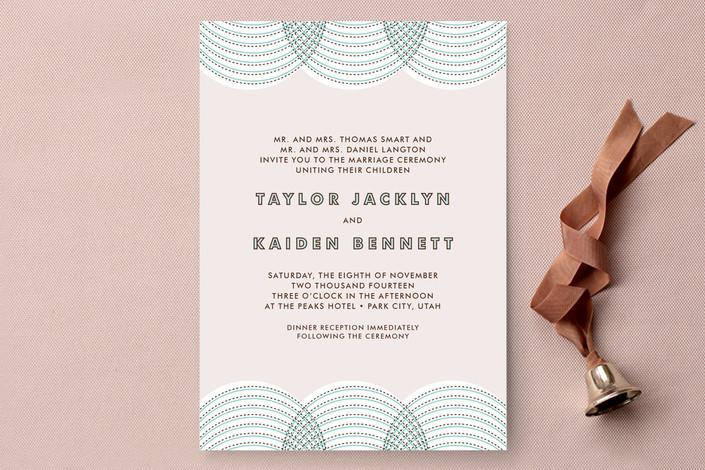 """fanfare"" - Modern Print-it-yourself Wedding Invitations in Aqua by Paper Dahlia."