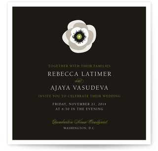 White French Anemone Print-It-Yourself Wedding Invitations