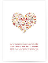Love Birds Print-It-Yourself Wedding Invitations