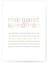 Modern Type Print-It-Yourself Wedding Invitations