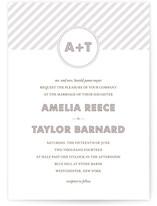 MODERN MONOGRAM Print-It-Yourself Wedding Invitations
