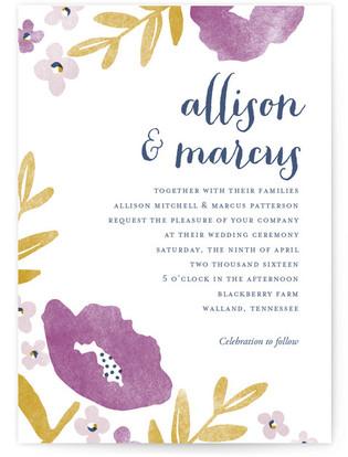 Fresh Cut Print-It-Yourself Wedding Invitations