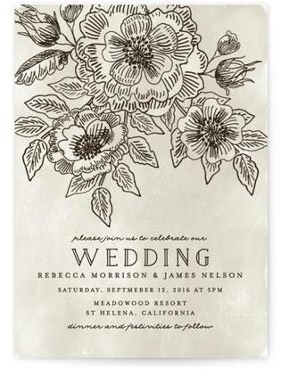 Wedding Etching Print-It-Yourself Wedding Invitations