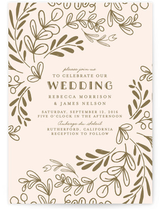 Wedding Vines Print-It-Yourself Wedding Invitations