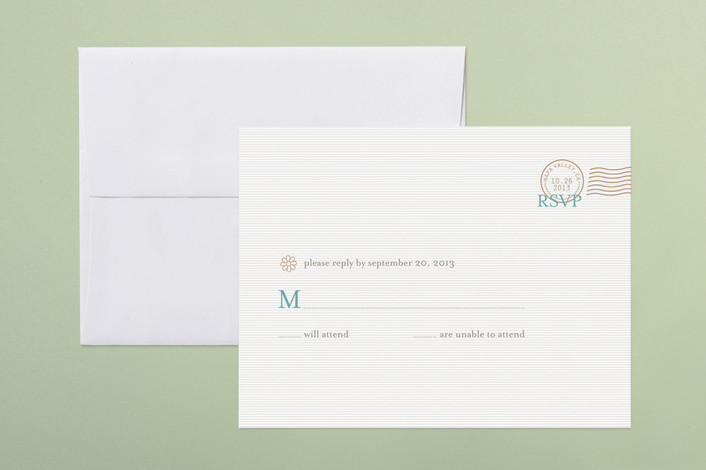 """""""The Seasonal Send-Off"""" - Destination, Modern Print-it-yourself Rsvp Cards in Aqua by bumble ink."""