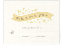 Ribbon + Field Print-It-Yourself RSVP Cards