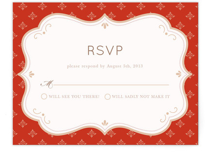 Indian Flair Print-It-Yourself Wedding RSVP Cards