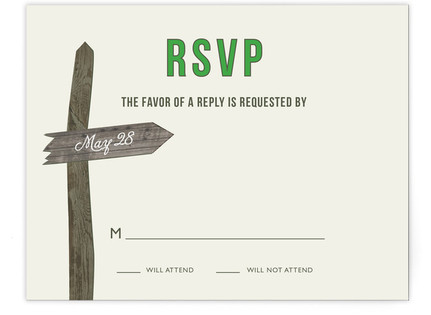 Wedding This Way Print-It-Yourself Wedding RSVP Cards