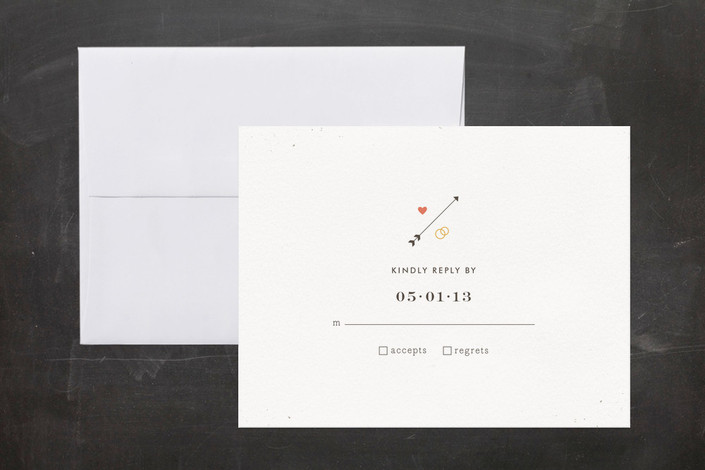 """""""Newsprint"""" - Modern, Simple Print-it-yourself Rsvp Cards in Slate by nocciola design."""