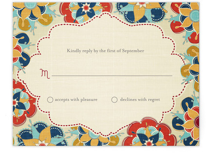 Las Flores Bonitas Print-It-Yourself Wedding RSVP Cards