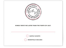 Beloved Monogram Print-It-Yourself RSVP Cards