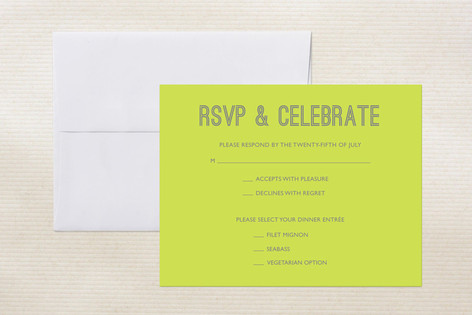 """""""Something Bold"""" - Modern Print-it-yourself Rsvp Cards in Grey by 24th and Dune."""
