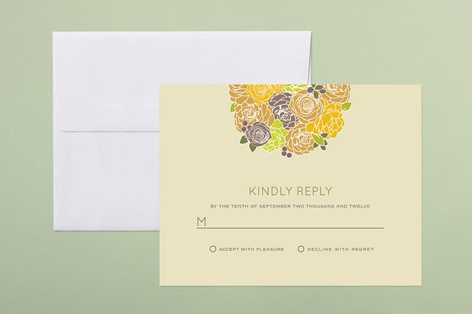"""""""Kissing Ball"""" - Floral & Botanical Print-it-yourself Rsvp Cards in Neutral by Phoebe Wong-Oliveros."""