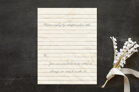 """""""Memento"""" - Vintage Print-it-yourself Rsvp Cards in Cherry by Erin Pescetto."""