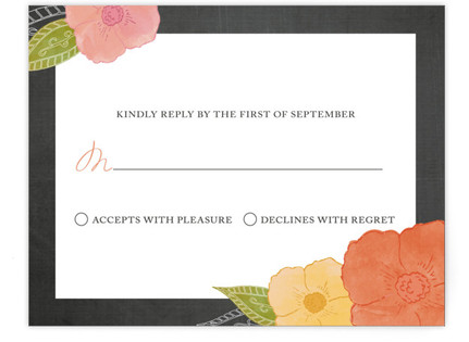 A Punch of Poppies Print-It-Yourself Wedding RSVP Cards